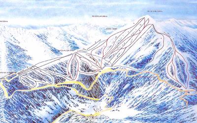 Коллекция подробных карт Андорры - Карта-схема трасс Пал.  Нажмите на карту для просмотра в полный размер.