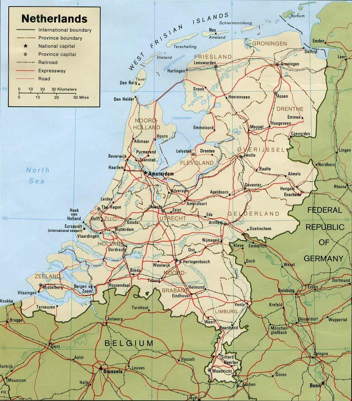 Карта голландии карта голландии